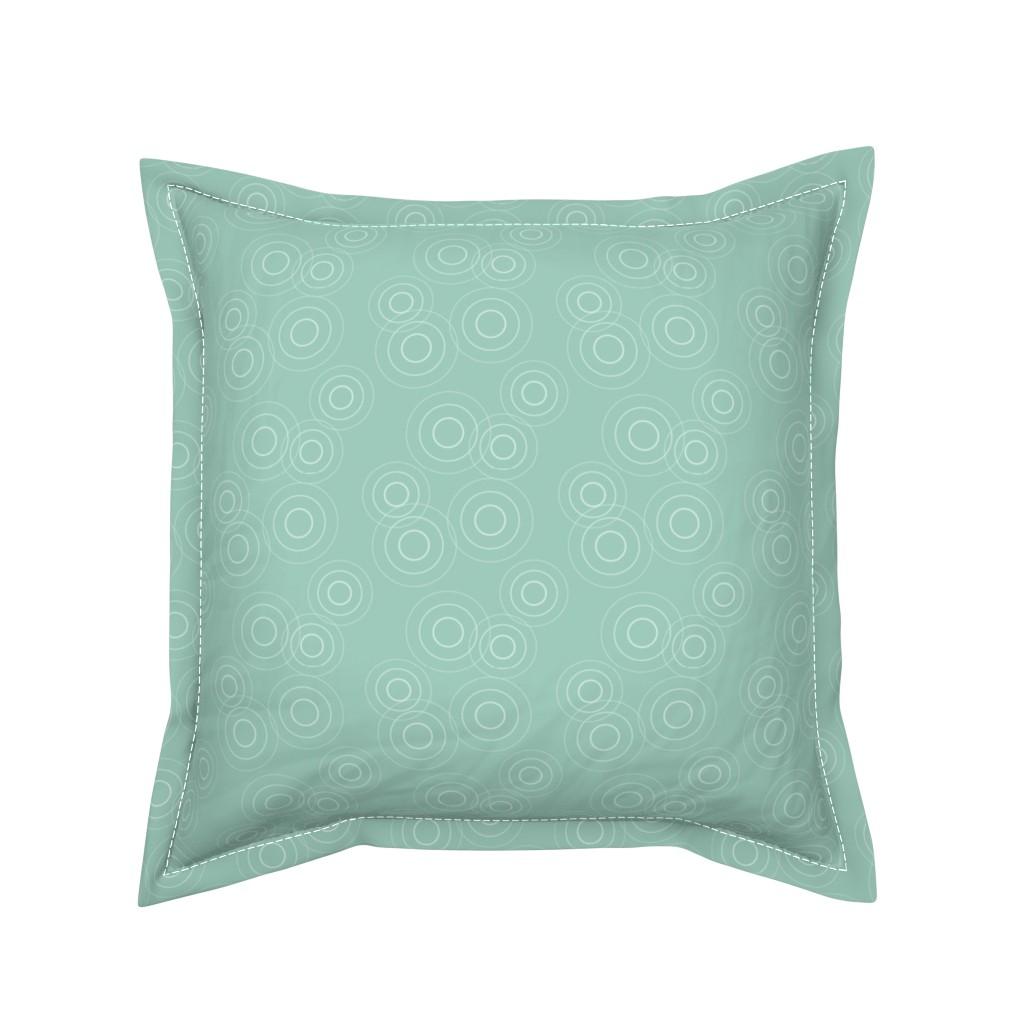 Serama Throw Pillow featuring Water Rings, seafoam gr by cindylindgren