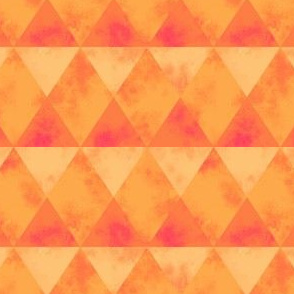 distressed diamond and triangles geo (orange and pink)