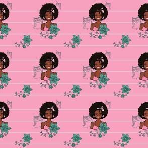 black_woman_owls_pink_background_tile