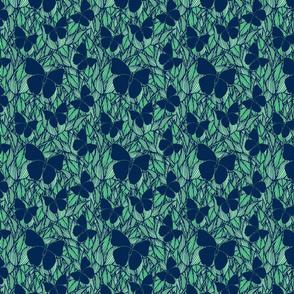 deep_blue_butterflies_abstract_succulents