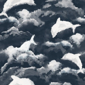 Dolphins in clouds