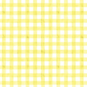 Neon Yellow Watercolor Gingham