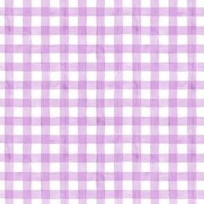 Easter Purple Watercolor Gingham