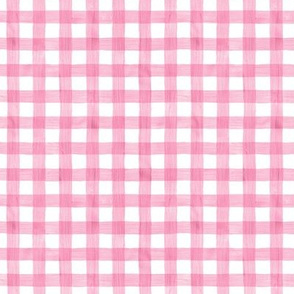 Pink Watercolor Gingham
