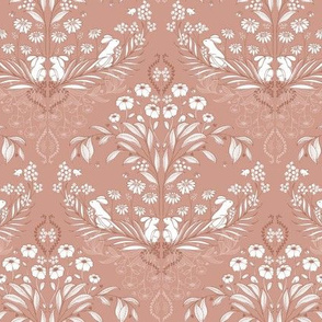 WildWood Damask Solid - dusty rose