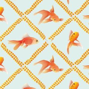 Gold Fish pale aqua