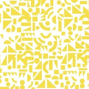 Yellow Shapes on White