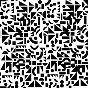 Black on White Shapes