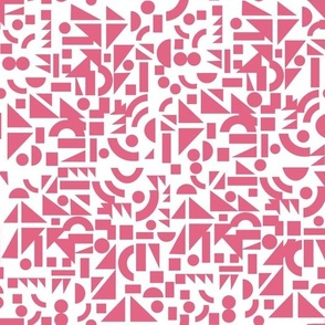 Pink  Shapes on White