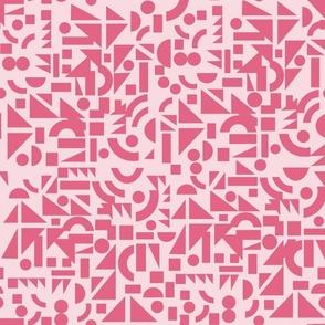 Pink Shapes on Light Pink