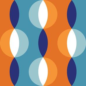 shimmer stripe tangerine-cobalt