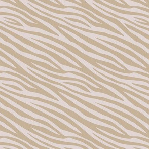 Wild zebra stripes skinny animal print boho minimalist earthy lovers design neutral nursery cinnamon beige brown