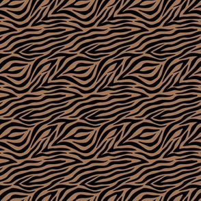 Wild zebra stripes smooth animal print boho minimalist earthy lovers design neutral nursery cinnamon black