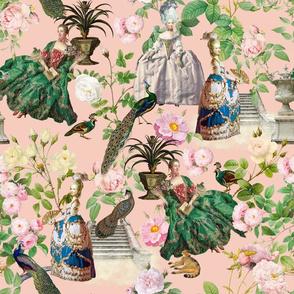 Marie Antoinette - in Her Redouté Roses Garden blush