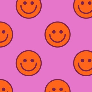 Raspberry Sherbet Smileys