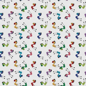 Funny monsters child pattern wizzitex