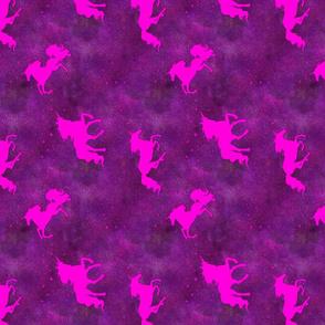Purple Sparkle Unicorns Rotated