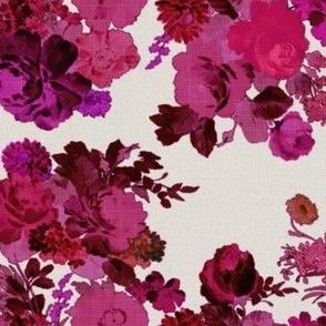 vintage bouquet - magenta