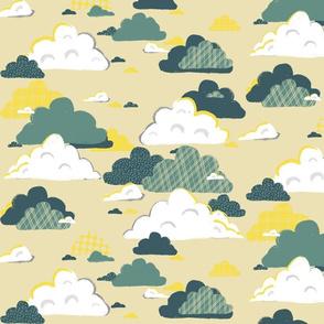 Nursery Clouds Yellow
