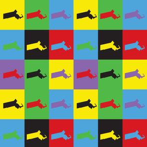 Massachusetts Pop Art Pattern