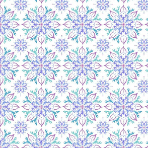 Watercolor Lobster Flowers Pattern