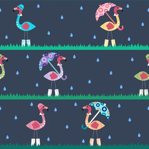 April Flamingo Pattern