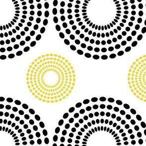 Black Dots Yellow