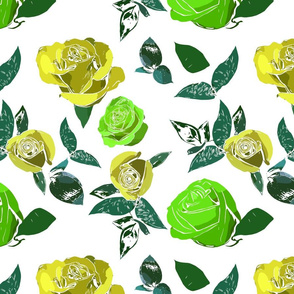 Multicolor Roses - Green and Yellow variations