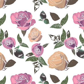 Multicolor Roses - Pale Pink variations