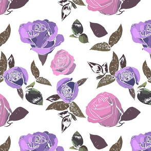 Multicolor Roses - Pink and Purple variations