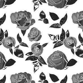 Multicolor Roses - Gray variations