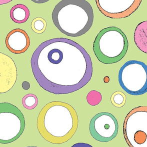 Pastel Circles Pale Green Large
