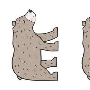 Mountain Brown Bear Pillow Plush Plushie Softie Cut & Sew