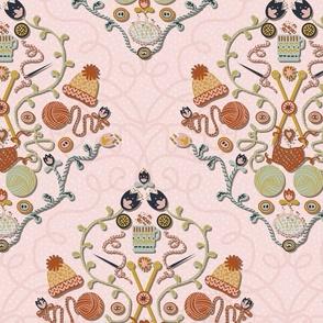 Knitting Love damask Jumbo scale