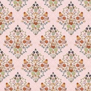 Knitting Love damask Medium scale