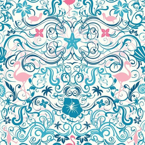 Seashore Damask Large Scale