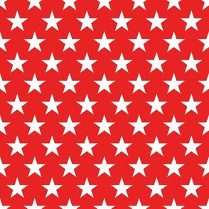 Stars 8 inch on red
