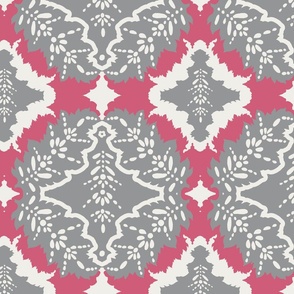 prism pink and ultimate gray damask