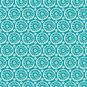 Ethnic circles / African beauty / Turquoise / Medium scale