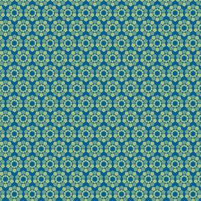 green  geometric flowers