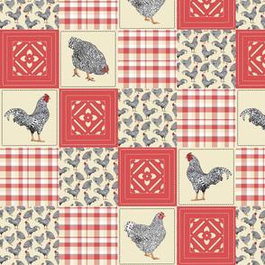 Dominique patchwork 16 square red