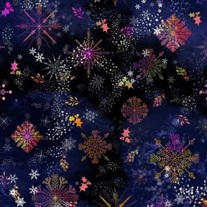 Nighttime Snowflakes