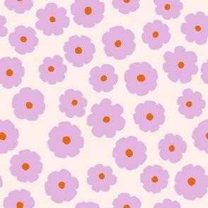 Cute pastel violet flowers