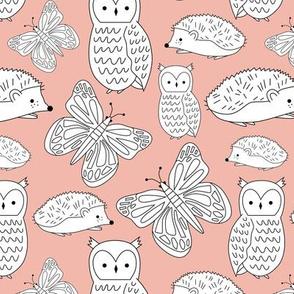 Woodland Creatures - Pink