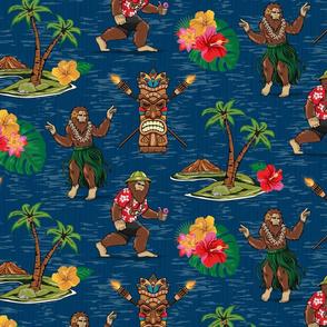 Bigfoot Hawaii Tourist Blue