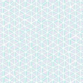 Irregular Triangles - Aqua and Lilac - ©Autumn Musick 2021