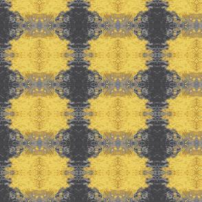 Yellow & Gray Kaleidoscope Grid