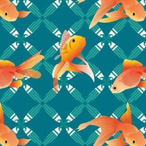 Lucky Goldfish teal