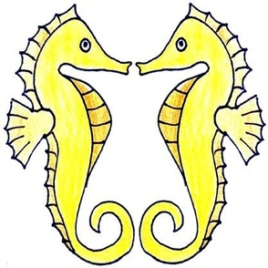 Abstract Garden - on blue background