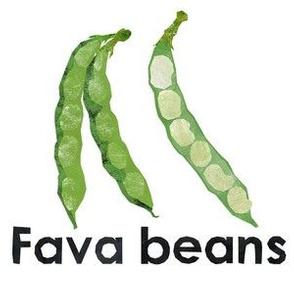 "fava beans - 6"" panel"